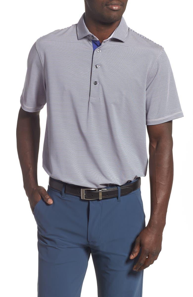 GREYSON Saranac Stripe Polo, Main, color, ORCHID SKATE