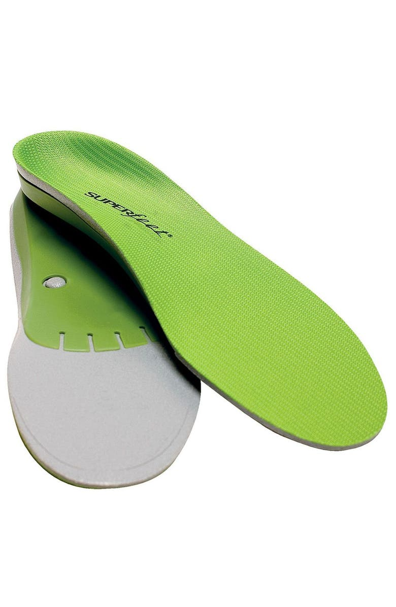 SUPERFEET Performance Green Full Length Insoles, Main, color, GREEN