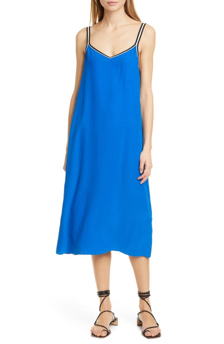 RAG & BONE Luca Silk Midi Slipdress, Main, color, SAILOR BLUE