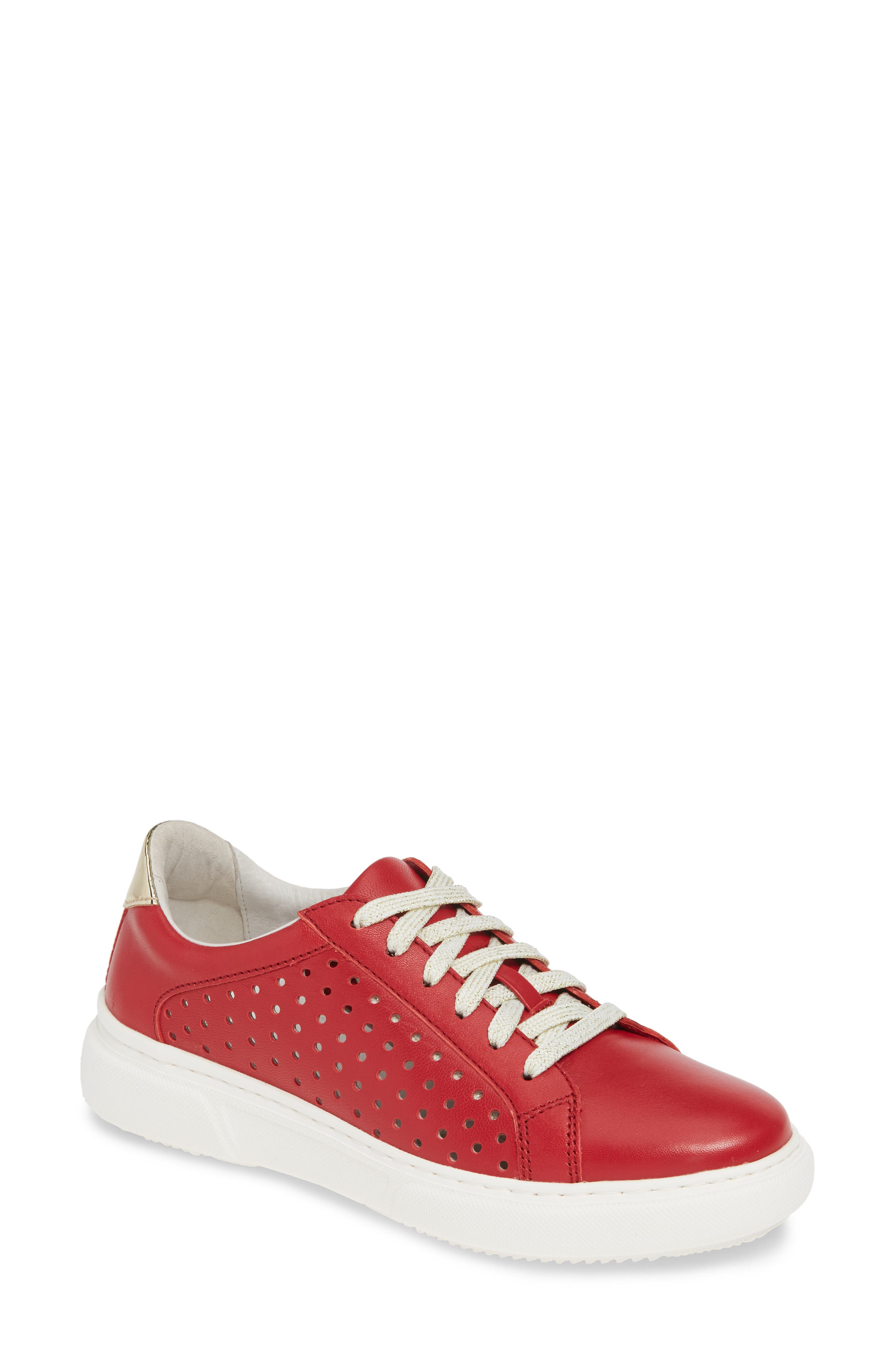 Johnston & Murphy Nora Perforated Sneaker, Red
