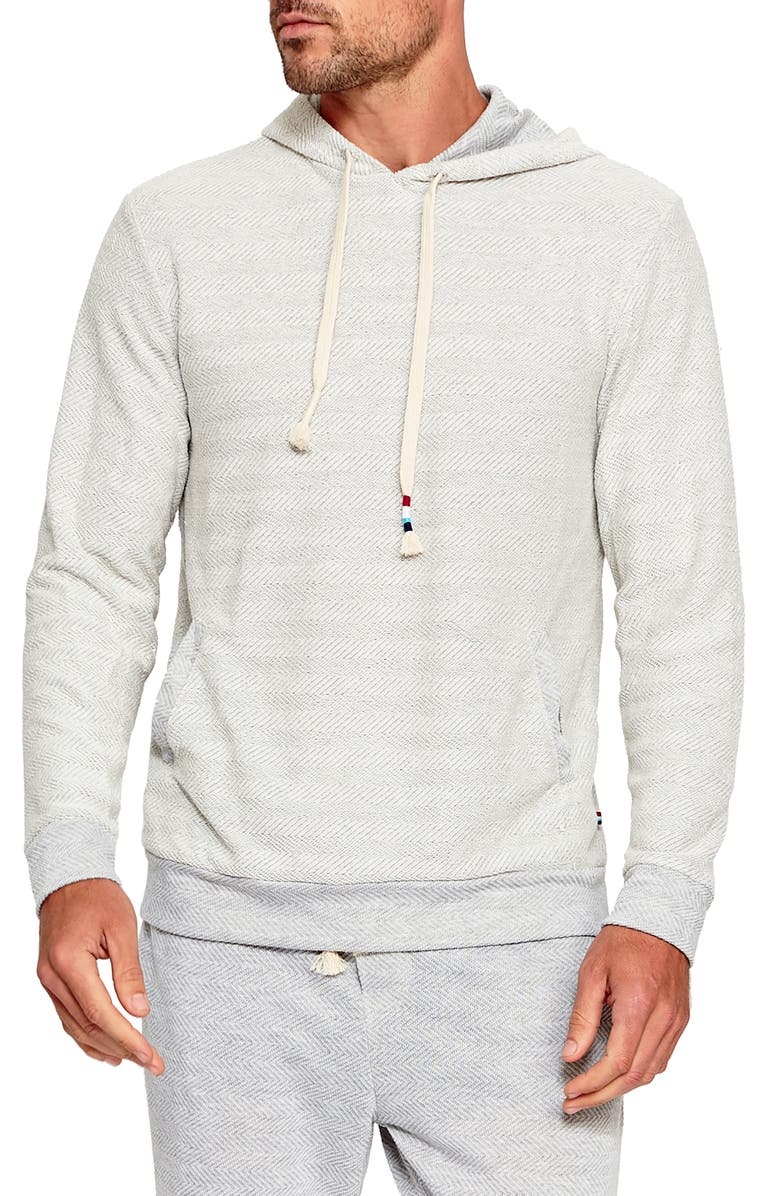 SOL ANGELES Chevron Pullover Hoodie, Main, color, HEATHER