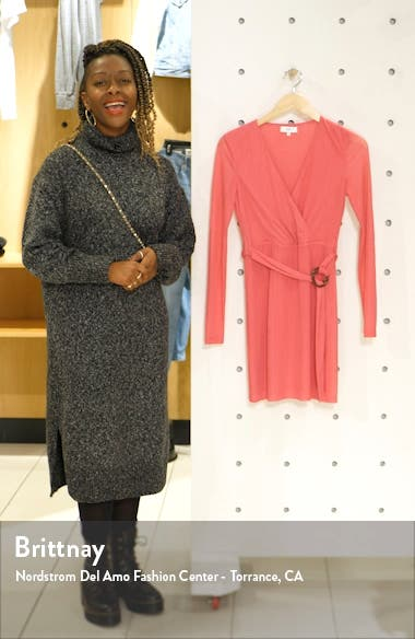 Ana Wrap Front Long Sleeve Minidress, sales video thumbnail