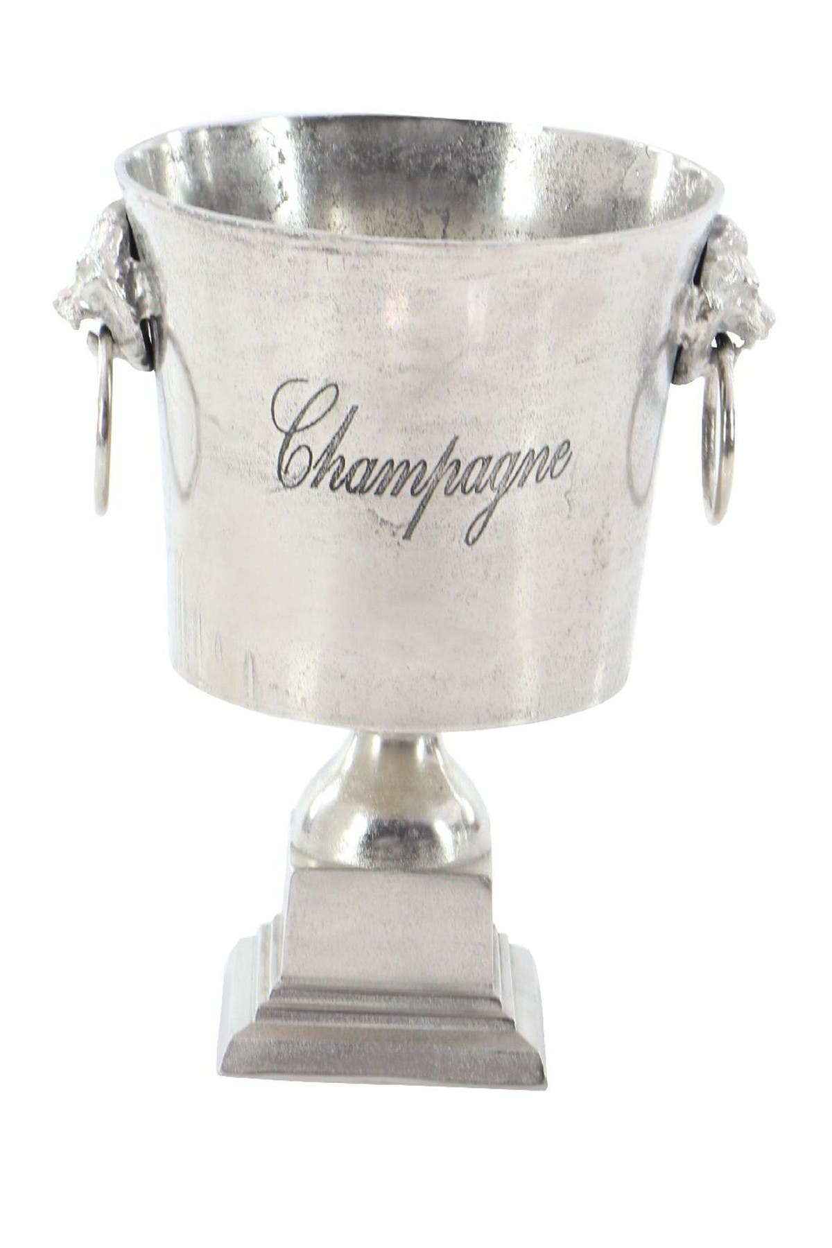 Image of Willow Row Traditional Silver Aluminum Bucket Wine Cooler