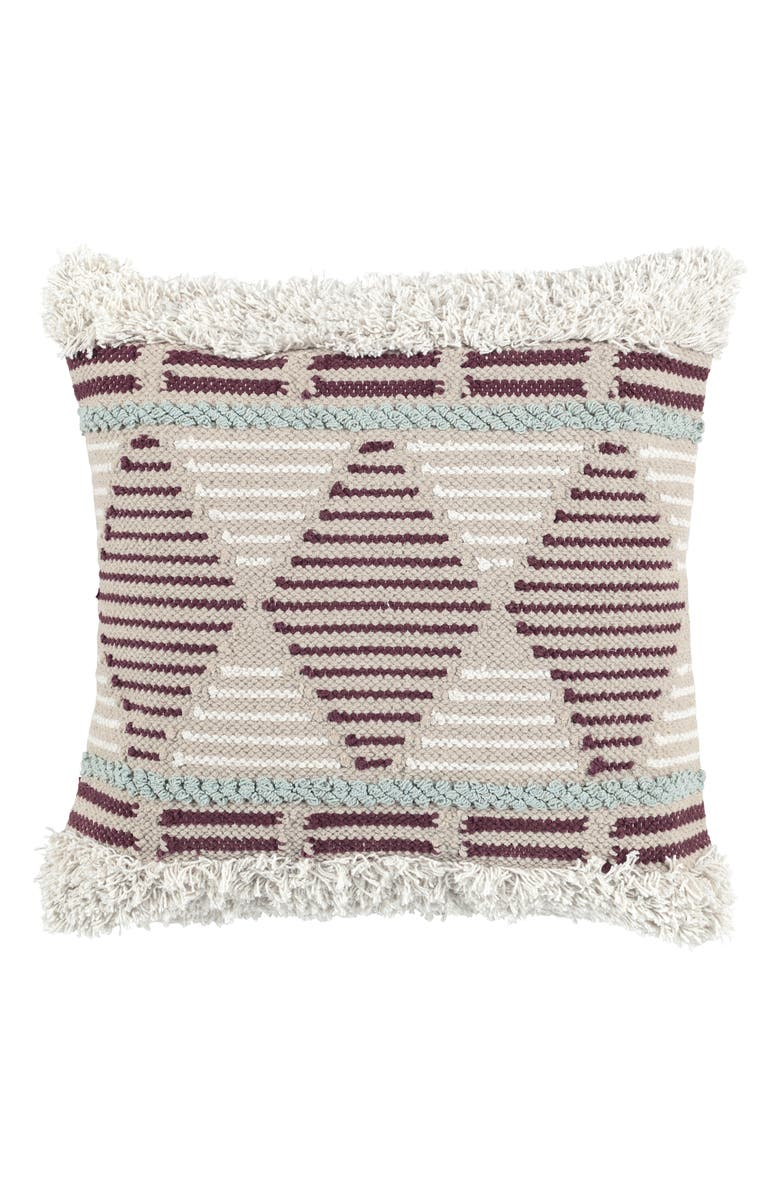 VILLA HOME COLLECTION Shana Geo Accent Pillow, Main, color, CABERNET/ SKY BLUE