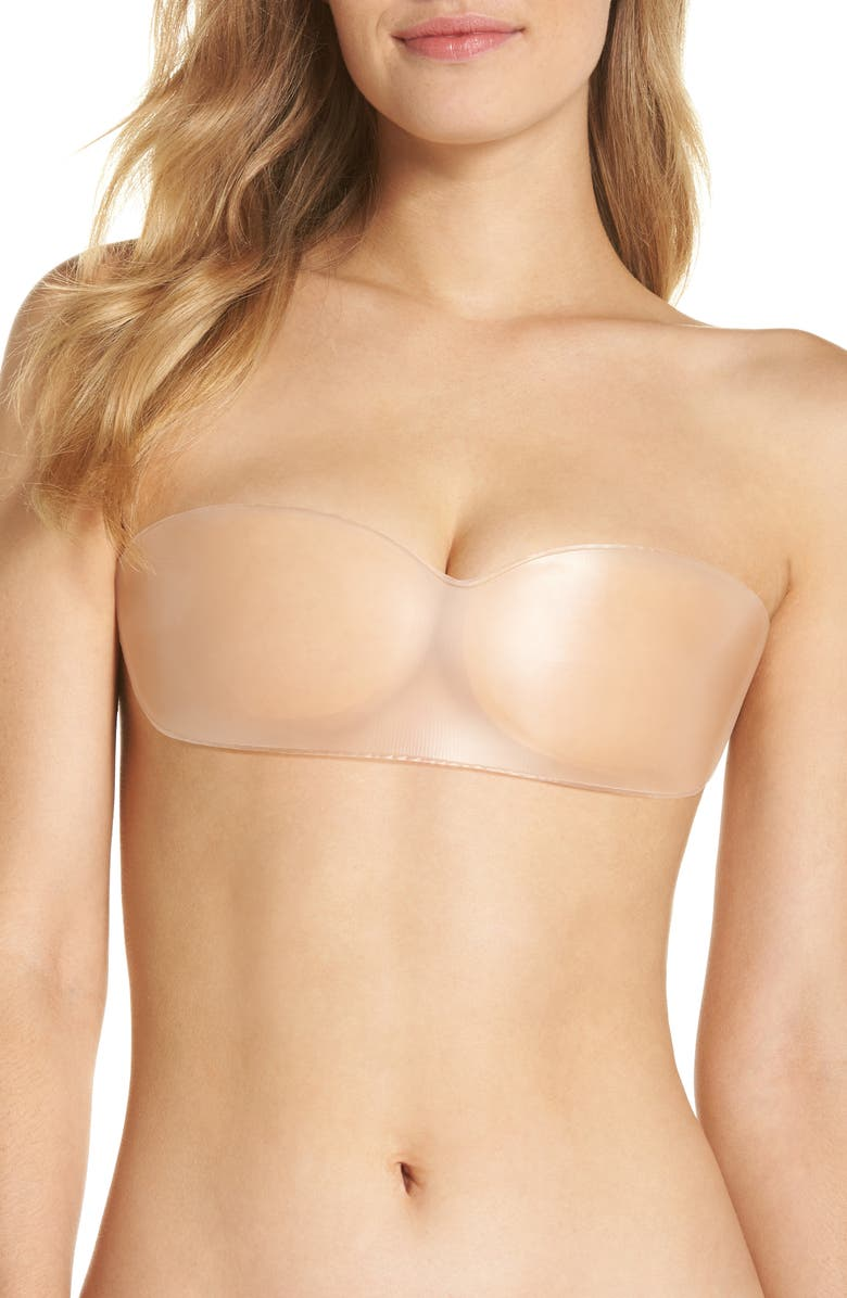 NORDSTROM LINGERIE Silicone Strapless Backless Bandeau Bra, Main, color, NUDE