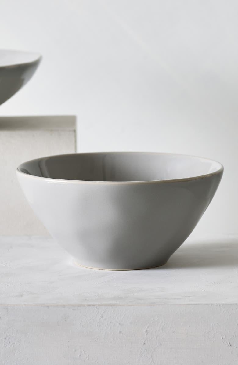 THE WHITE COMPANY Portobello Cereal Bowl, Main, color, GREY