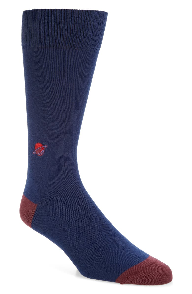 PAUL SMITH Embroidered Planet Socks, Main, color, BLUE