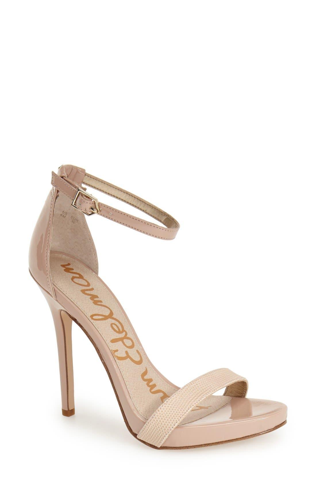 ,                             'Eleanor' Ankle Strap Sandal,                             Main thumbnail 109, color,                             255
