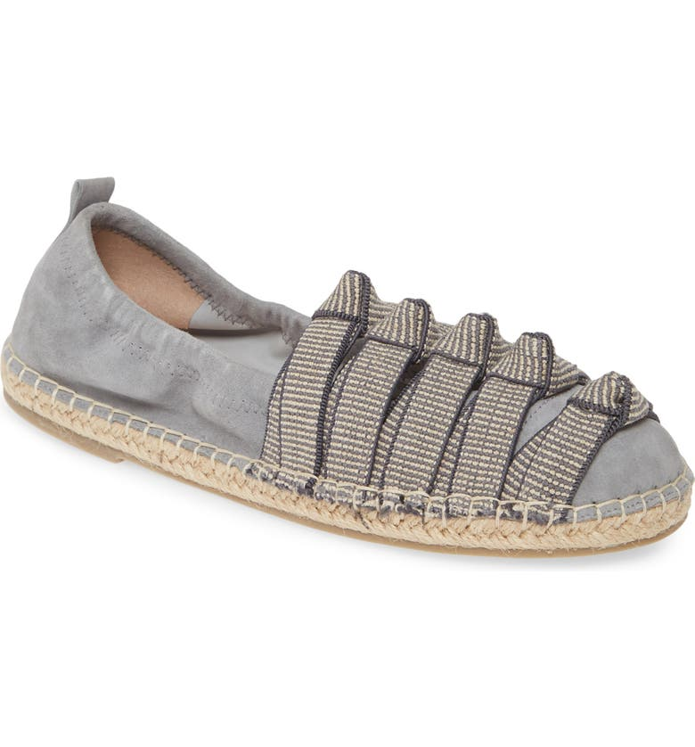 CECELIA NEW YORK Knotted Stitch Espadrille, Main, color, FADED JEANS LEATHER