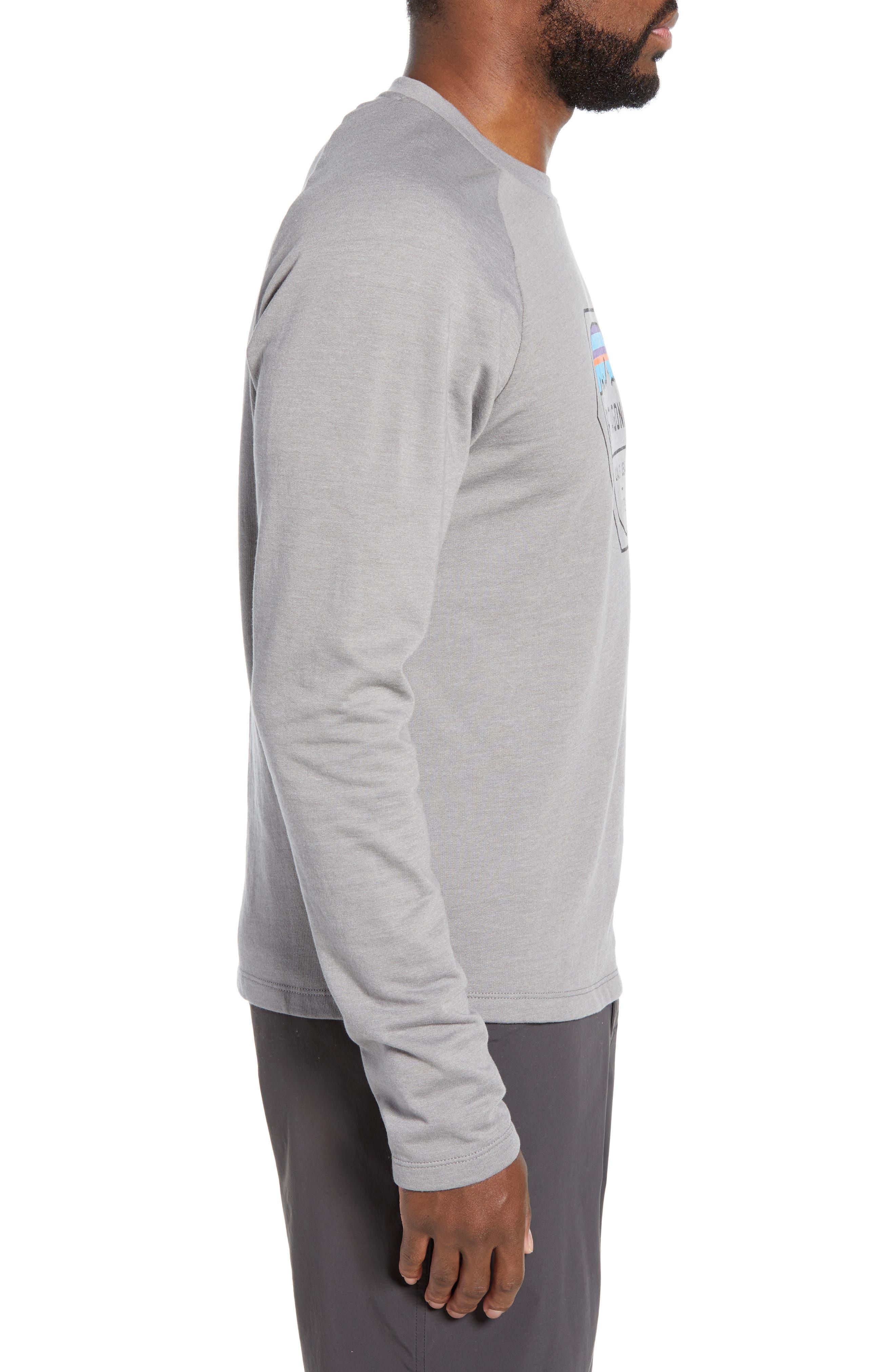 ,                             Fitz Roy Hex Logo Sweatshirt,                             Alternate thumbnail 3, color,                             FEATHER GREY