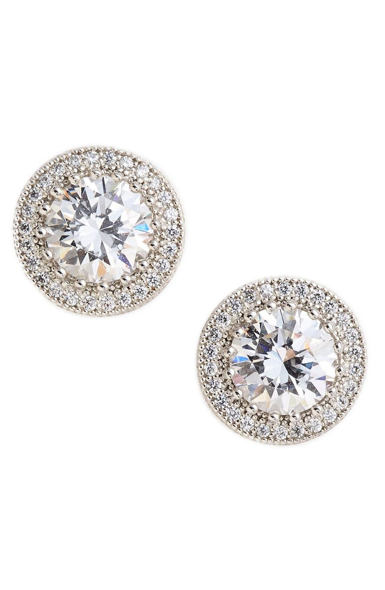 LAFONN 'Lassaire' Stud Earrings, Main, color, SILVER/ CLEAR