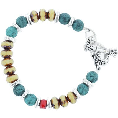King Baby American Voices Ceramic & Glass Bead Bracelet