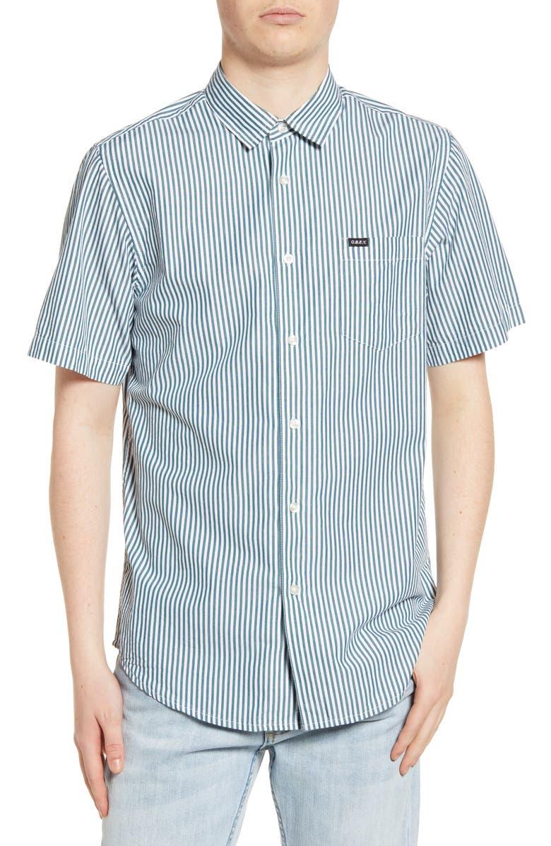OBEY Jumbo Stripe Shirt, Main, color, 335