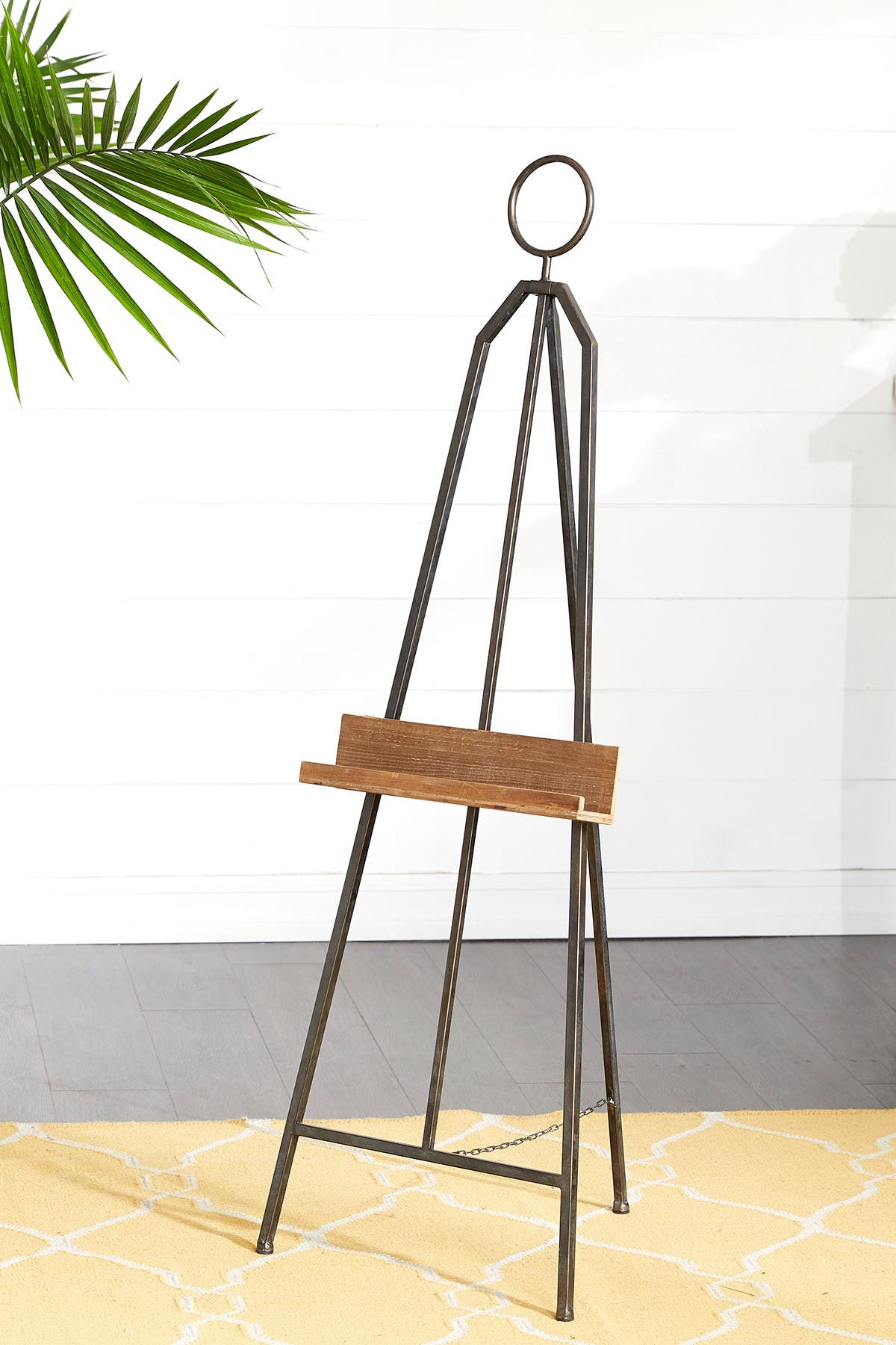"""Image of Willow Row Black Iron Industrial Easel - 52"""" x 18"""" x 19"""""""