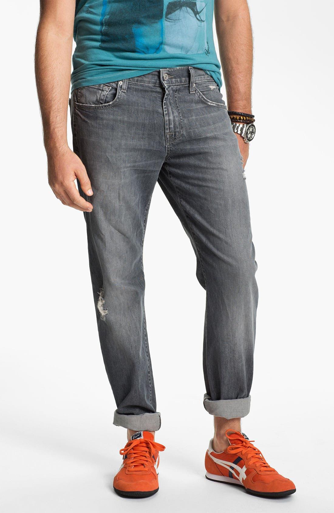 Straight Leg Jeans, Main, color, 021