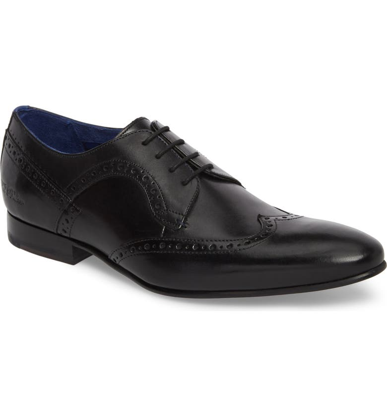 TED BAKER LONDON Ollivur Wingtip, Main, color, 001