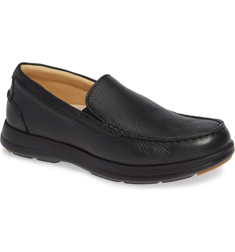 SAMUEL HUBBARD Blue Skies Slip-On, Main, color, BLACK LEATHER