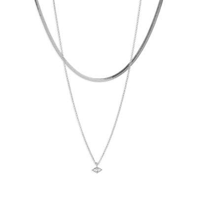 Halogen Layered Pendant Necklace