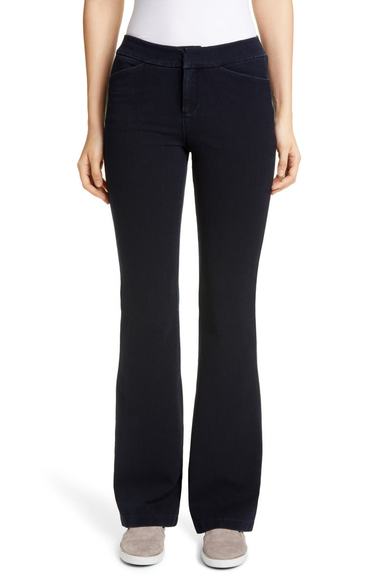 LAFAYETTE 148 NEW YORK Suffolk High Waist Flare Jeans, Main, color, INDIGO