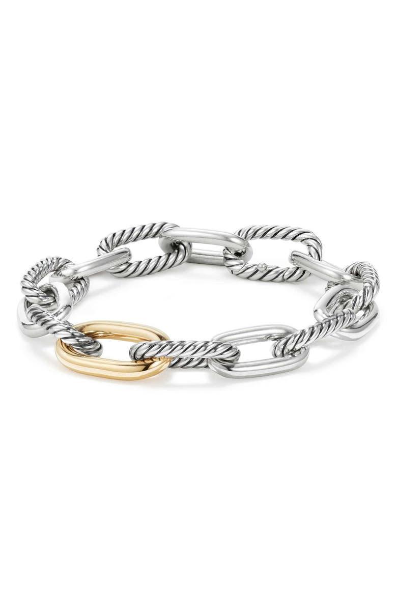 DAVID YURMAN DY Madison Chain Medium Bracelet, Main, color, GOLD/ SILVER