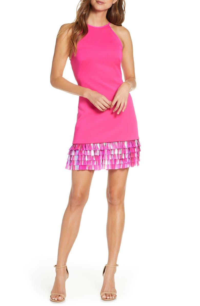 SHO Tiered Sequin Hem Cocktail Dress, Main, color, 677