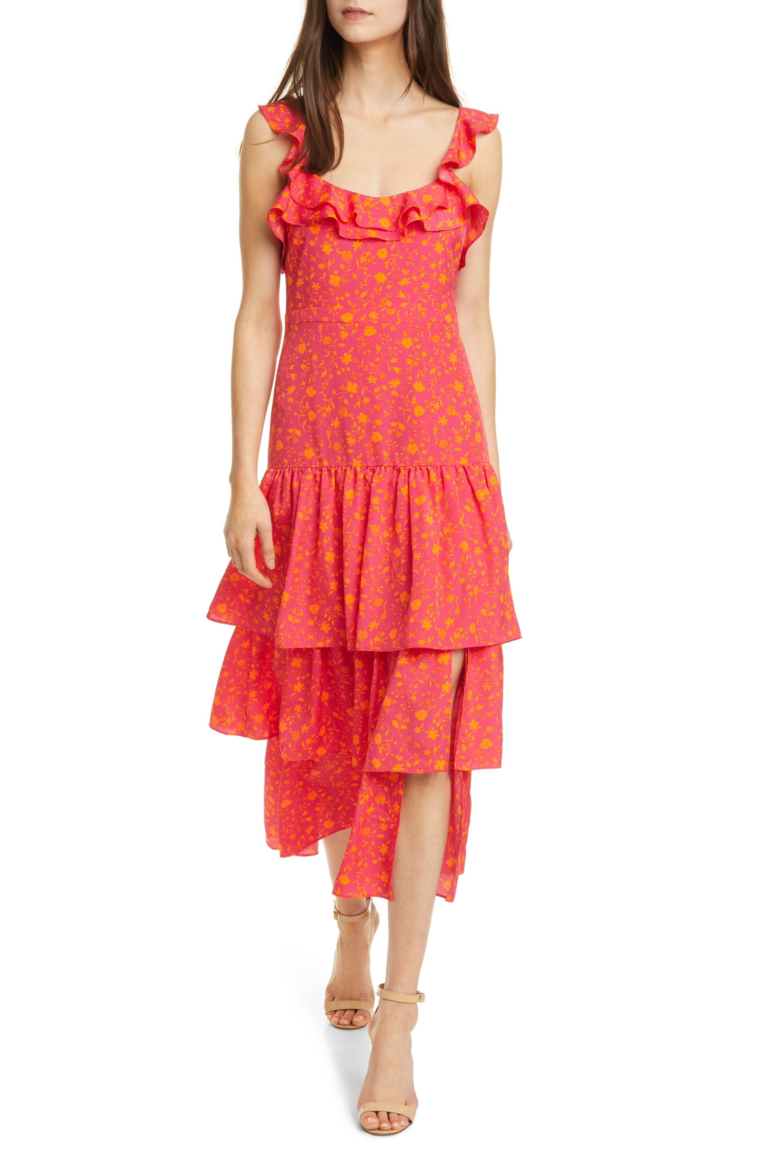 Janie Floral Tiered Dress
