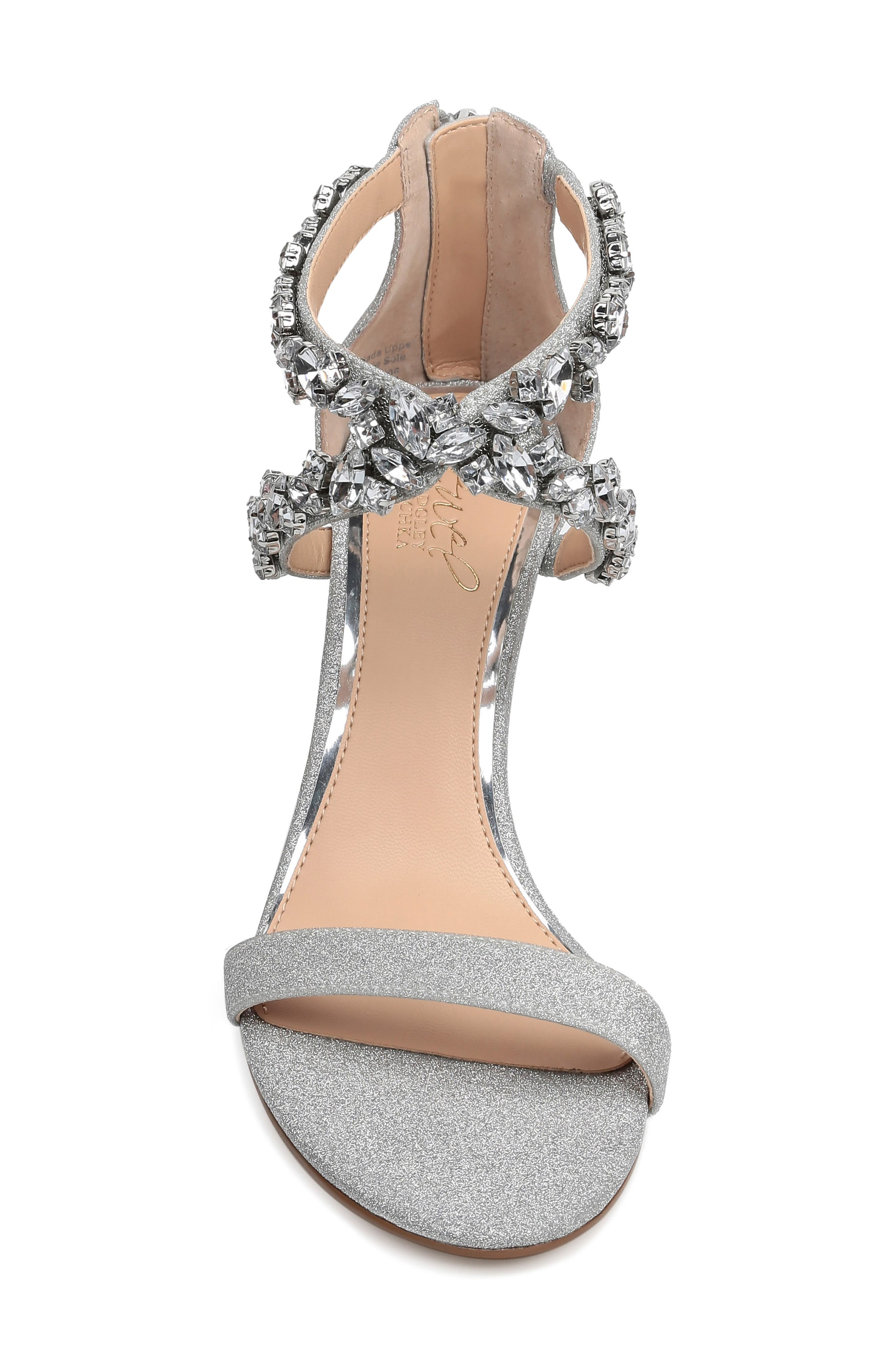 ,                             Jaylee Sandal,                             Alternate thumbnail 4, color,                             SILVER SATIN