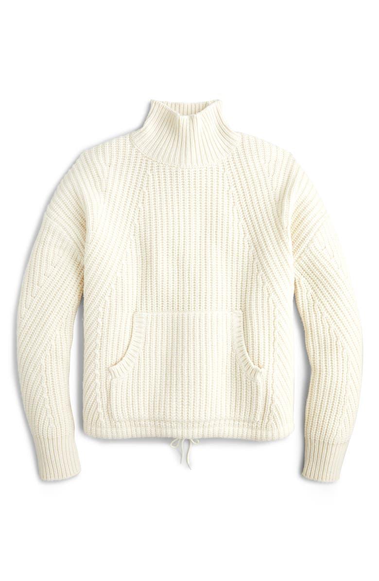 J.CREW Cozy Après-Ski Turtleneck Sweater, Main, color, WARM IVORY