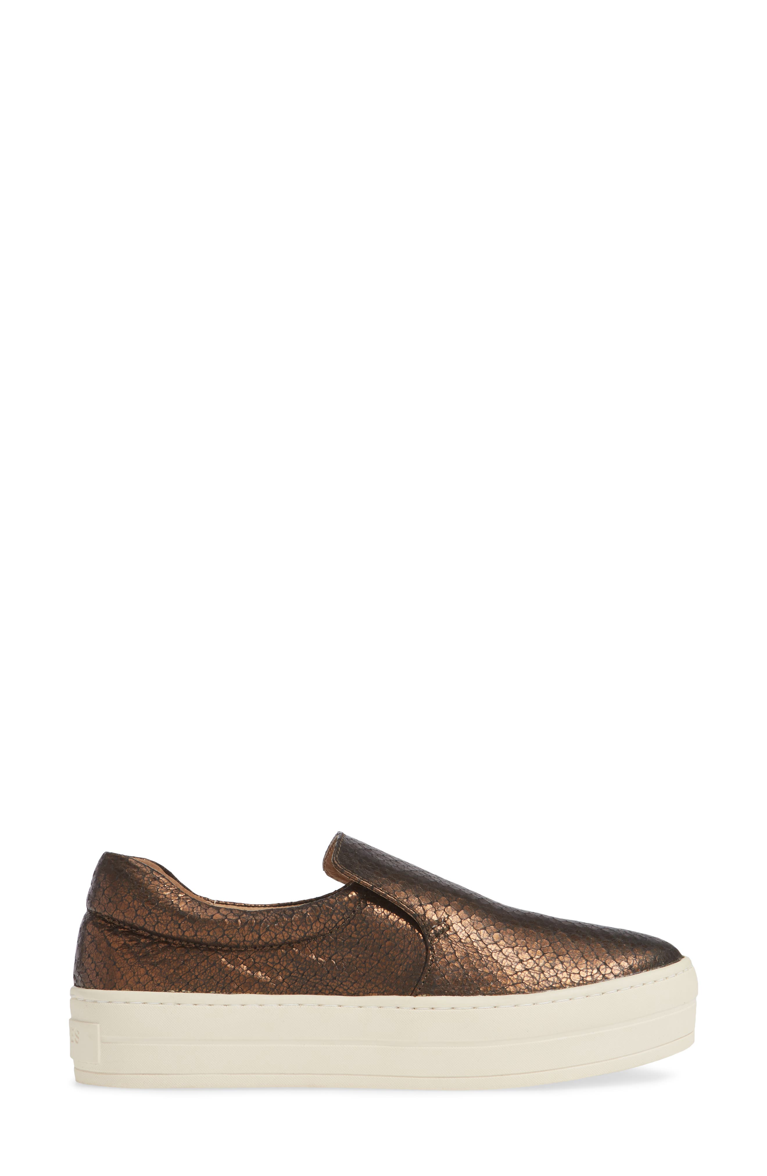 ,                             Harry Slip-On Sneaker,                             Alternate thumbnail 3, color,                             BRONZE EMBOSSED LEATHER