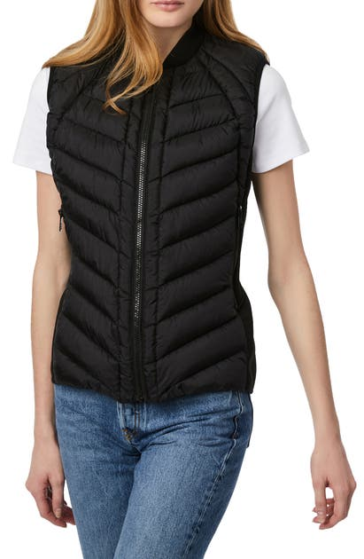 Bernardo Downs NEOPRENE TRIM CHANNEL QUILTED VEST