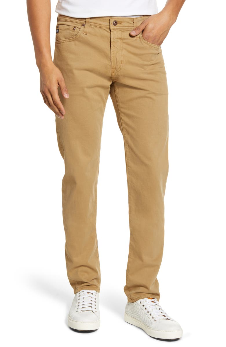 AG Tellis SUD Modern Slim Fit Stretch Twill Pants, Main, color, PORTER TAN