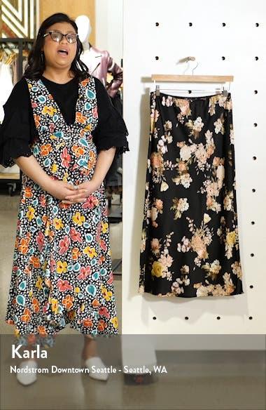 Beautiful Blooms Midi Skirt, sales video thumbnail