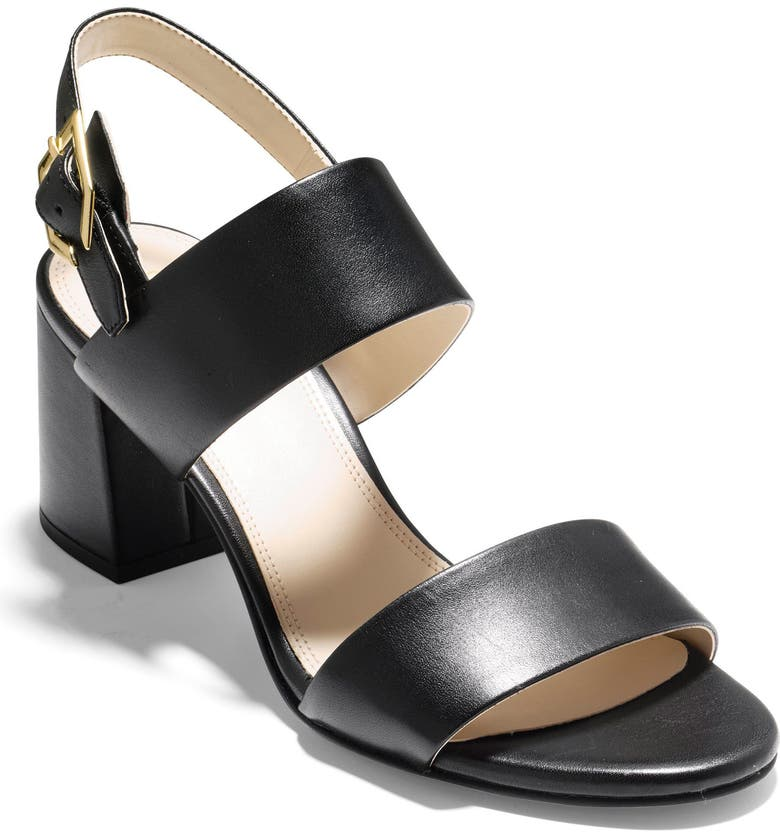 COLE HAAN Avani Block Heel Sandal, Main, color, BLACK LEATHER