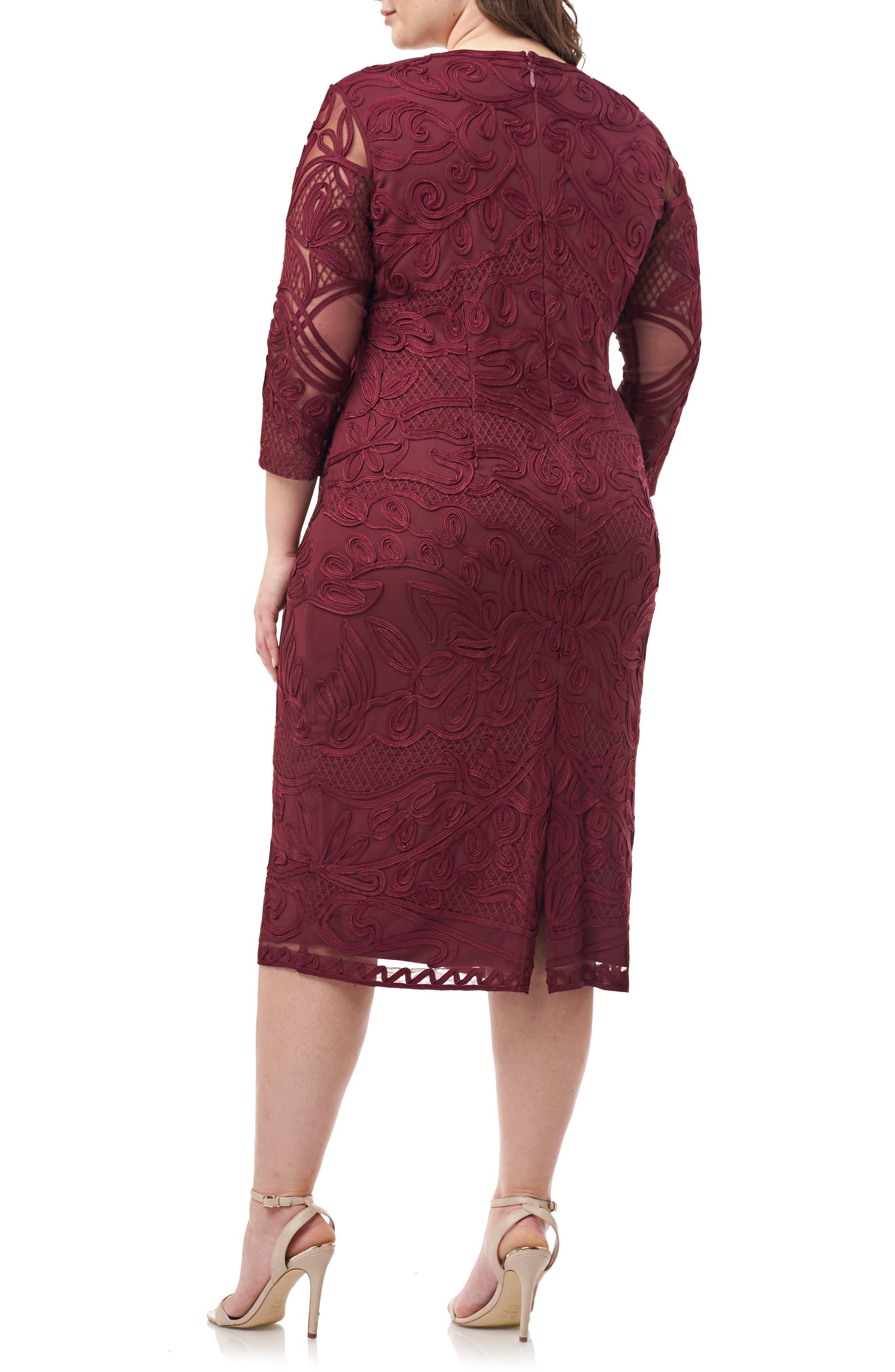 ,                             Soutache Sheath Dress,                             Alternate thumbnail 14, color,                             930