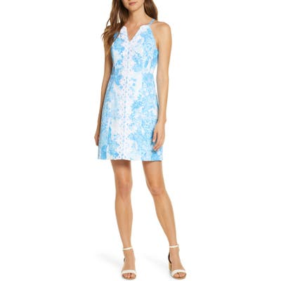 Lilly Pulitzer Pearl Toile Sheath Dress, Blue