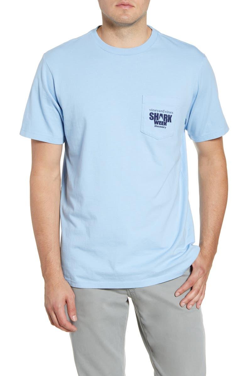 VINEYARD VINES x Shark Week<sup>™</sup> Cage Diver Pocket T-Shirt, Main, color, 456