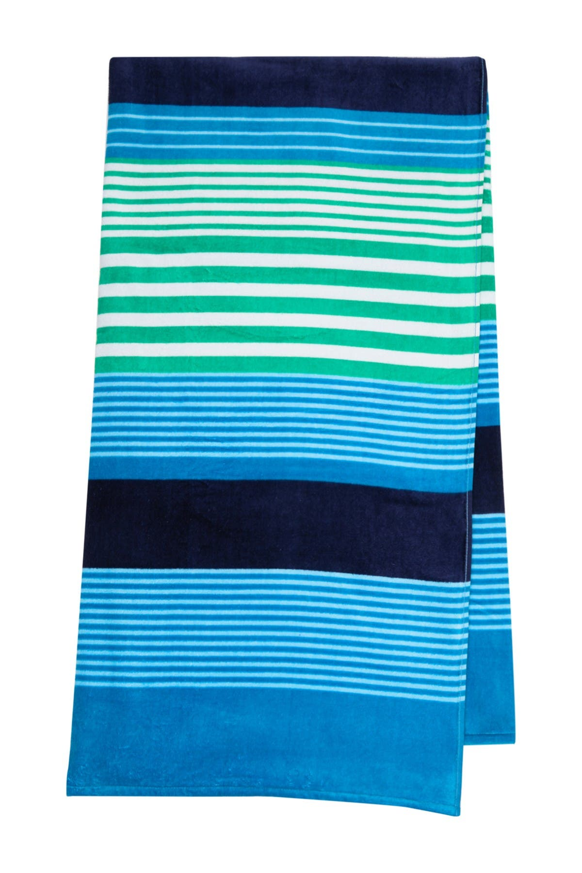 Image of Apollo Towels New Times Stripes Print Beach Towel