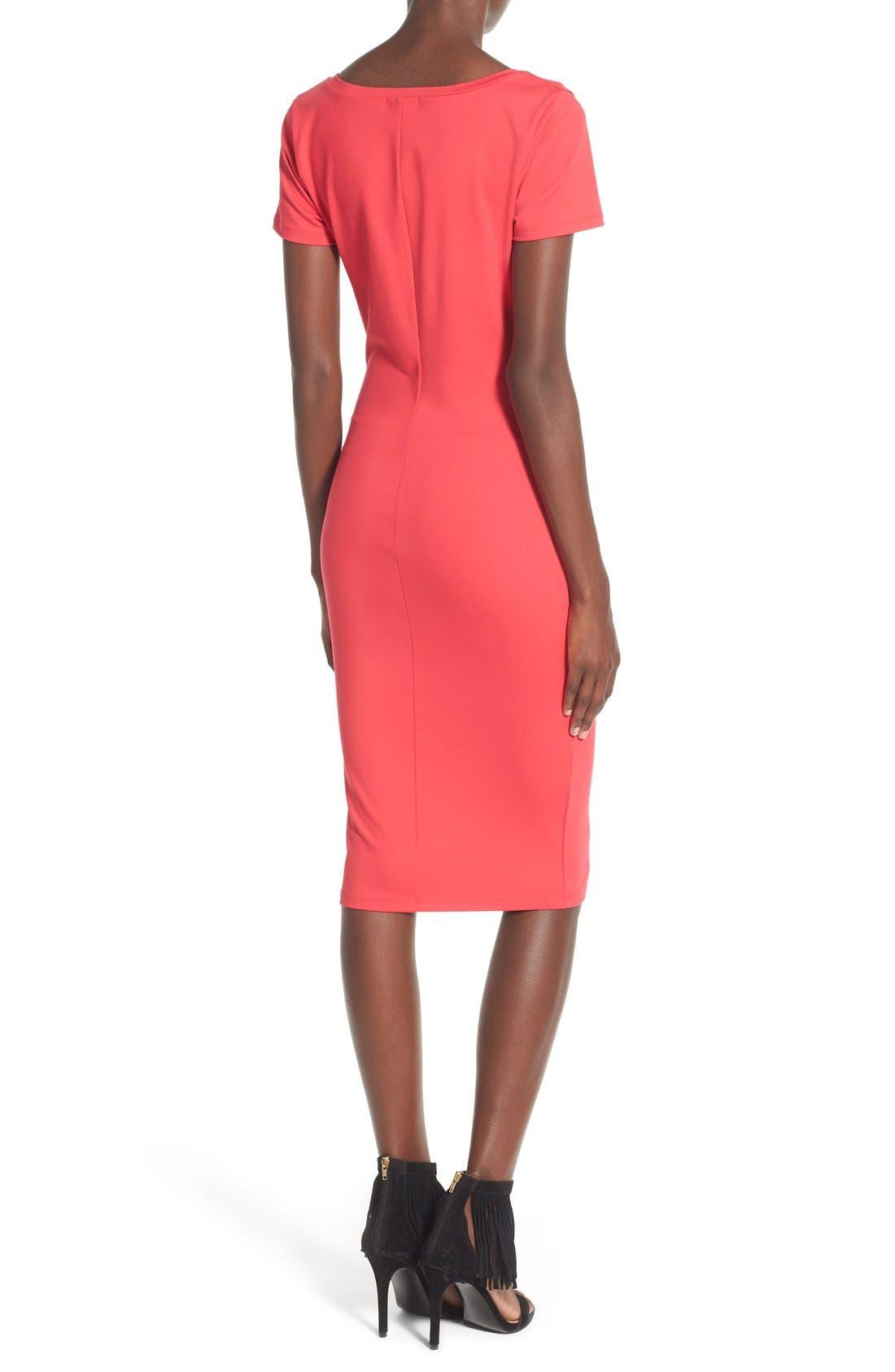 ,                             V-Neck Body-Con Dress,                             Alternate thumbnail 30, color,                             605