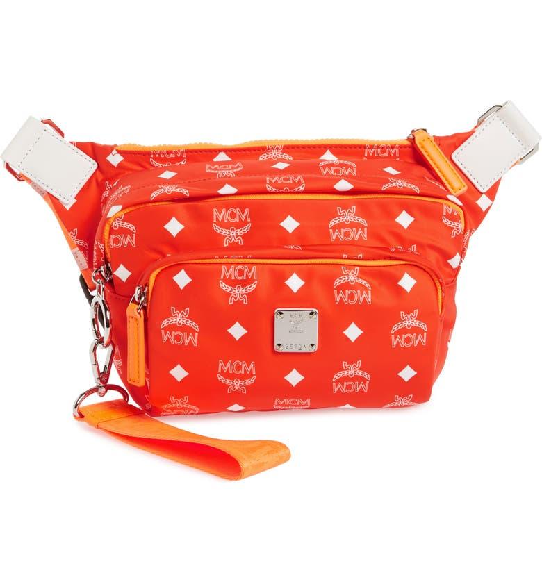 MCM Resnick Visetos Sling Bag, Main, color, 829