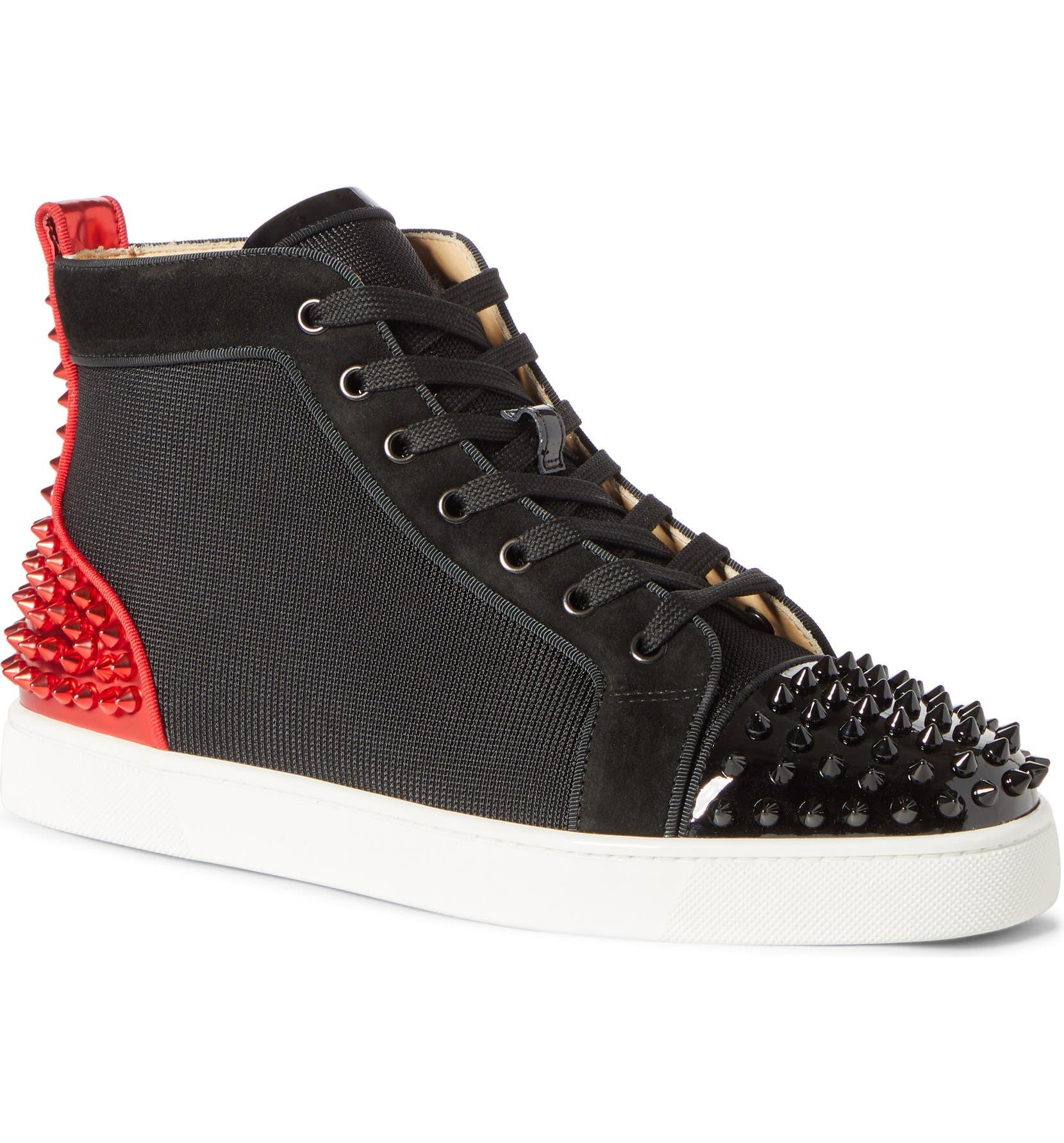 9c4cc3e00f6 Christian Louboutin AC Lou Spikes 2 High Top Sneaker (Men) | Nordstrom