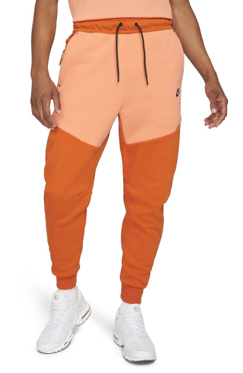 NIKE Men's Tech Fleece Jogger Sweatpants, Main, color, CAMPFIRE/ ORANGE/ BLACK
