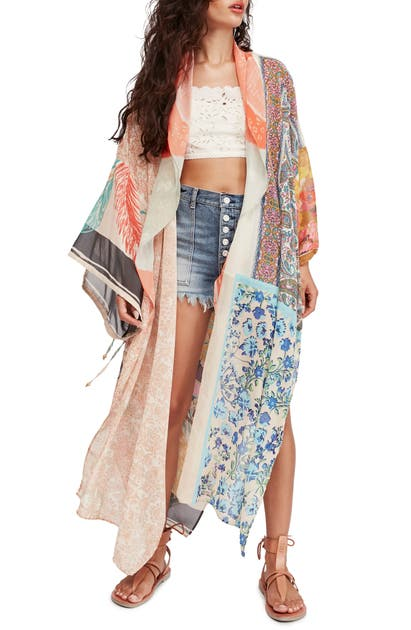 Free People Tops MIX PRINT WRAP