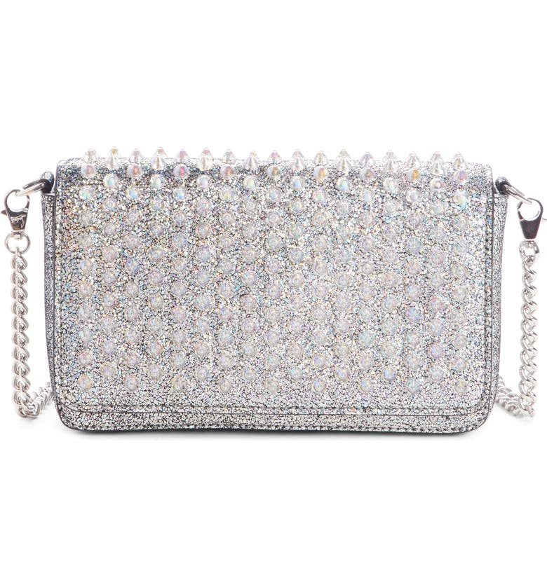 d182145628a Christian Louboutin Zoompouch Crystal Embellished Leather Clutch ...