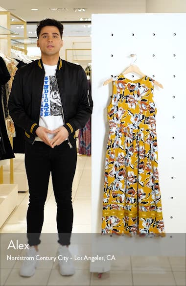 Floral Print Sleeveless Midi Dress, sales video thumbnail