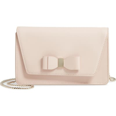 Ted Baker London Keeiira Bow Leather Evening Bag - Pink