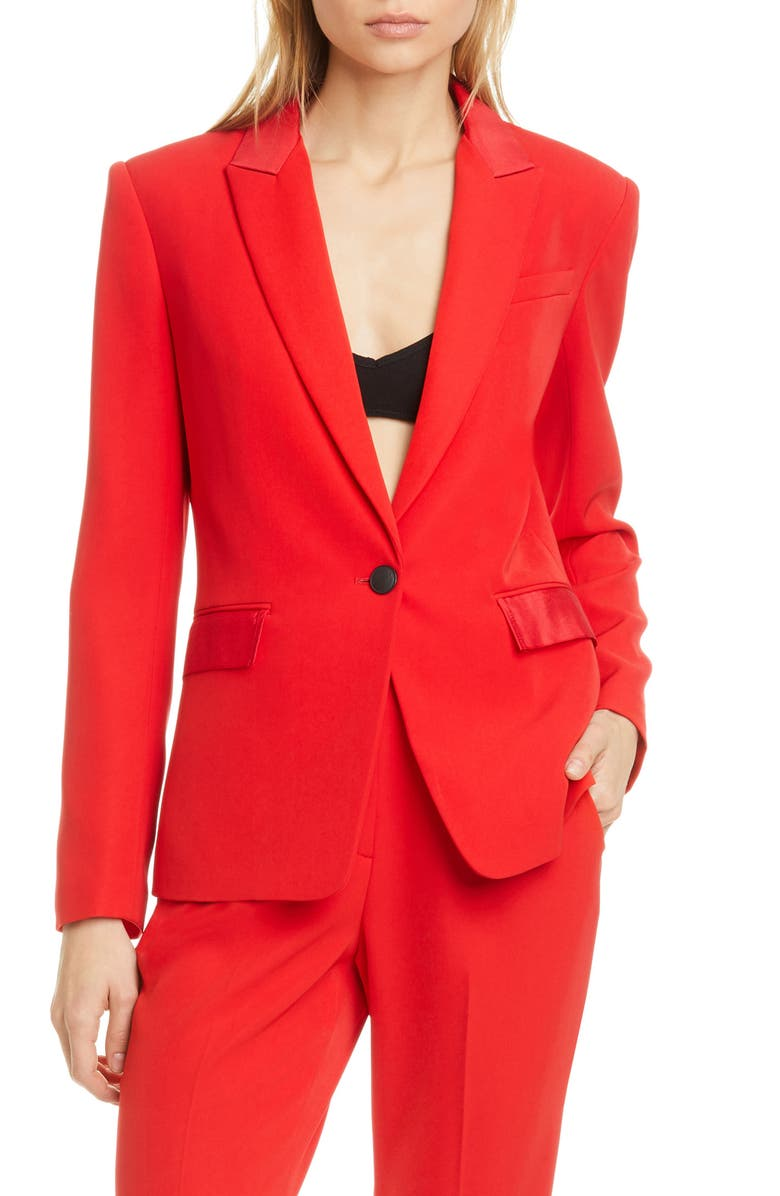 RAG & BONE Rylie Grosgrain Trim Blazer, Main, color, 600