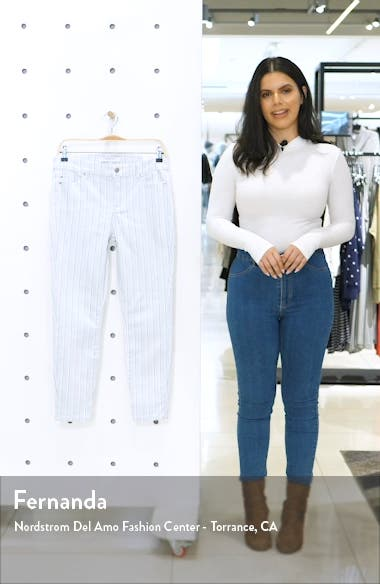 Abby Stripe Ankle Skinny Jeans, sales video thumbnail