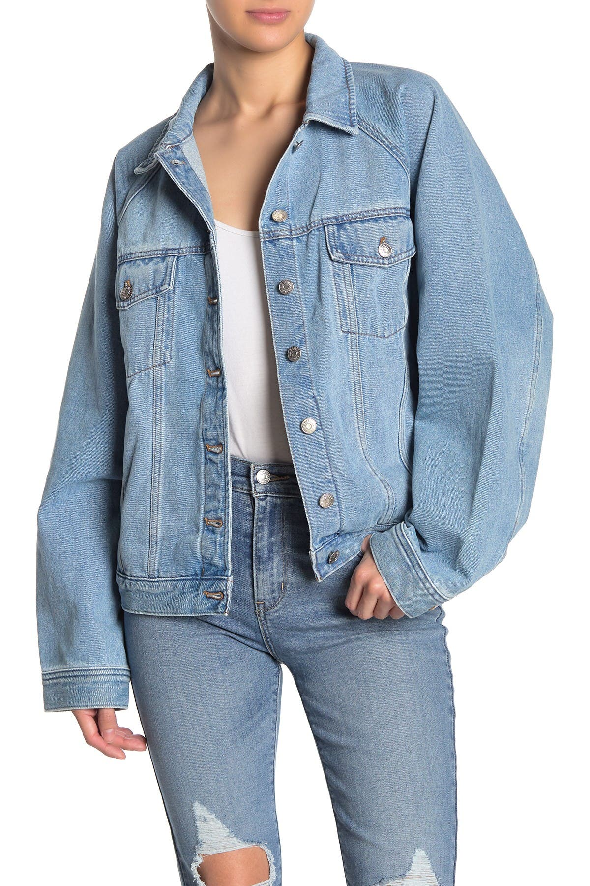 Image of Madewell Raglan Oversized Jean Jacket
