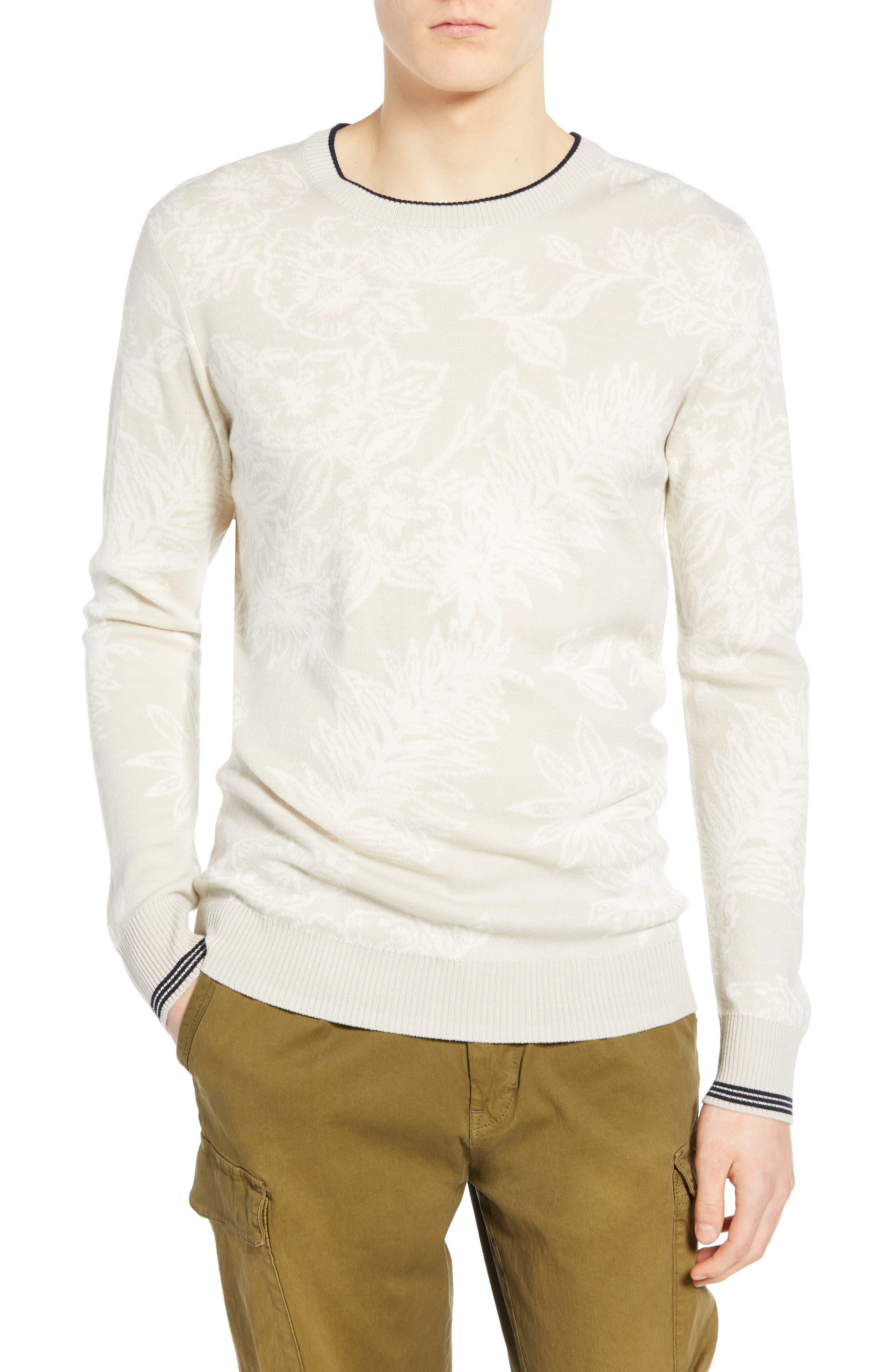 Scotch & Soda Floral Tipped Sweater, Beige