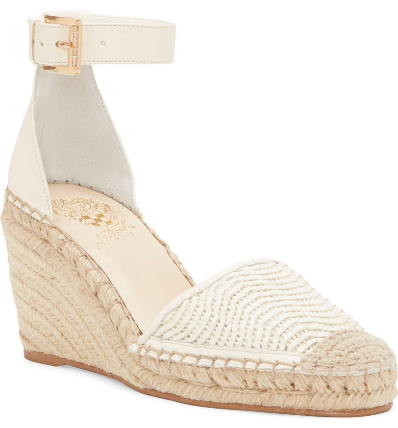 VINCE CAMUTO Valissa Espadrille Wedge, Main, color, WARM WHITE